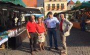 (V. l. n. r) Andreas Heinecke, Marita Funhoff, Michael Thews u. Siegfried Scholz. Horst Bolinger war ebenfalls dabei.