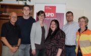v. l. n. r. Siegfried Scholz, Jan Oestermann, Dörte Oesterschulze, Christina Thomas, Sascha Casper, Doris Scholz-Bürger.